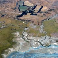 Flussdelta Neuseeland